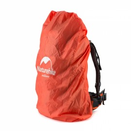 Naturehike Waterproof Backpack Cover Rainproof Mud Dust Protective Cover Pouch Camping Hiking Travel L Orange