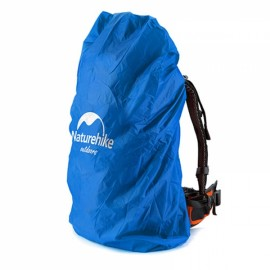 Naturehike Waterproof Backpack Cover Rainproof Mud Dust Protective Cover Pouch Camping Hiking Travel M Blue