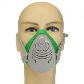 POWERCOM N3800 Anti-Dust Gas Mask Filter Paint Spraying Cartridge Respirator Green & Gray