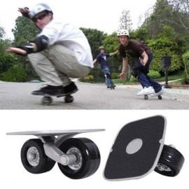 1 Pair Freeline Drift Skate Board Black & Silver