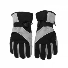 Winter Warm Windproof Waterproof Gloves for Outdoor Sports Mountain Skiing Snowboard Cycling Light Gray