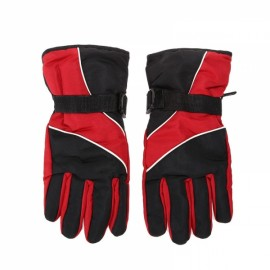 Winter Warm Windproof Waterproof Gloves for Outdoor Sports Mountain Skiing Snowboard Cycling Red