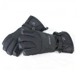 Men's Winter Warm Windproof Waterproof Gloves for Outdoor Sports Climbing Skiing Snowboard Motorcycle Riding Cycling Black M