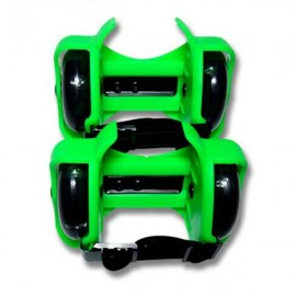 Mini Flashing Wheels Drifting Roller Skating Shoes Free Line Wheels Green