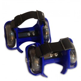 Mini Flashing Wheels Drifting Roller Skating Shoes Free Line Wheels Blue