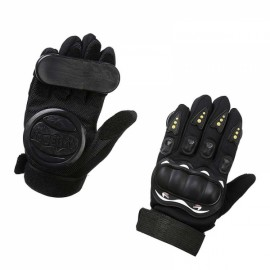 LOSENKA Long Board Slider Speed Brake Gloves Highway Skateboard Double Slide Block - Black