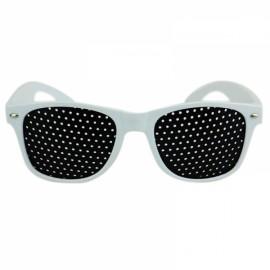 Eye Care Pinhole Eyes Exercise Glasses Vision Improve Eyewear White