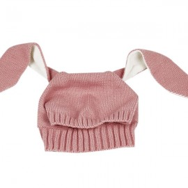 Winter Baby Animal Hat Long Rabbit Ears Knitted Hat Pink