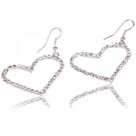 Love Heart Rhinestone-stud Earrings for Graceful Lady