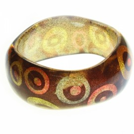Type Size of the Circle Pattern Bracelet with Flowers