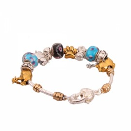 Charming Bracelet Chain with Animal Beads