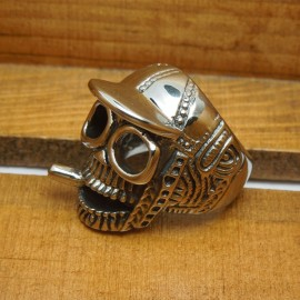 Vintage Style Personalized Skull Design Men's Ring 9# (American Standard)