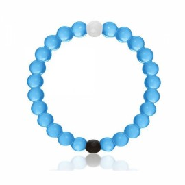 Lokai Skin-friendly Silicone Bead Mud Transparent Bracelet Blue L