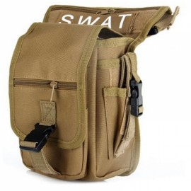 Utility Tactical Leg and Waist Pouch Carrier Bag for Hunting Riding Hiking Mud Color