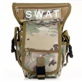 Utility Tactical Leg and Waist Pouch Carrier Bag for Hunting Riding Hiking CP Camouflage