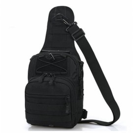 Leisure Outdoor Sling Bag Haversack Crossbody Bag for Hiking Camping Climbing Black