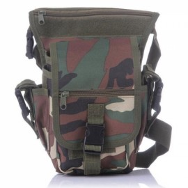 Utility Tactical Leg and Waist Pouch Carrier Bag for Hunting Riding Hiking Jungle Camouflage