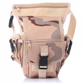 Utility Tactical Leg and Waist Pouch Carrier Bag for Hunting Riding Hiking Desert Camouflage