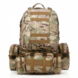 50L Outdoor Sports Rucksack Backpack Camping Hiking Camouflage Shoulder Bag CP Camouflage