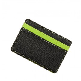 PU Leather Magic Wallet Money Clip Card Holder Business Purse Green
