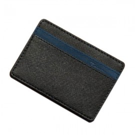 PU Leather Magic Wallet Money Clip Card Holder Business Purse Blue