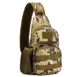 Men's Tactical Sling Shoulder Crossbody Bag Chest Bag Assault Pack CP Camouflage