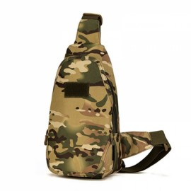 Outdoor Sports Chest Bag Tactical Man Shoulder Messenger Bags for Riding CP Camouflage