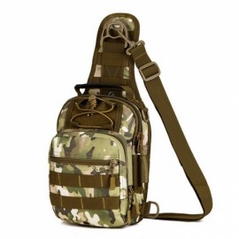 Outdoor Tactical Fly Fishing Camping Equipment Nylon Wading Sport Chest Pack Bag Size L CP Camouflage