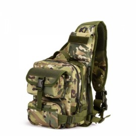 Outdoor Men Tactical Sling Shoulder Messenger Bag Nylon Camouflage Chest Pack CP Camouflage