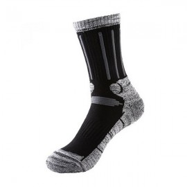 Men Winter Skiing Socks Outdoor Snowboarding Socks Hiking Cycling Socks Black Size 39-44