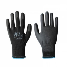 XINGYU PU518 Anti-static Nylon Nitrile Palm Coated Work Safety Gloves Black 7