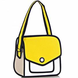 Sweet Creative 3D Stereoscopic Cartoon Nylon Women's Single-shoulder Bag Messenger Bag Yellow