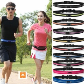 Multipurpose Double Bags Outdoor Sport Waterproof Anti-theft Waist Bag Black