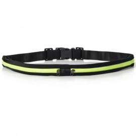 Multipurpose Double Bags Outdoor Sport Waterproof Anti-theft Waist Bag Black & Green