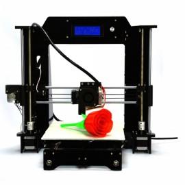 HICTOP 3DP-08 Prusa I3 3D Desktop Printer DIY Self-Assembly Kit Black