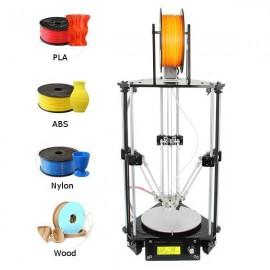 Geeetech Delta Rostock Mini G2 Pro DIY 3D Printer Kit with Auto-leveling Black & Silver