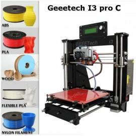 Unassembled DIY Geeetech I3 Pro C Dual Extruder 3D Printer Kit Support 5 Filament Black