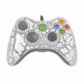 USB Wired Game Controller Joystick Gamepad for Xbox 360 White & Gray