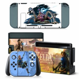 4 PCS  Nintendo Switch Console Joy-Con Skin Zelda Breath of the Wild Vinyl Sticker Wrap - TN-switch-0009