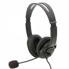 Two-sided Plastic Headset with Microphone for PS3 / PC Black