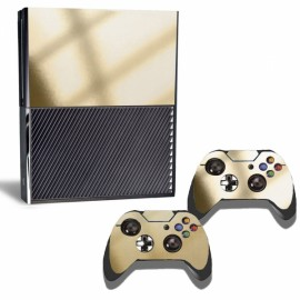 Creative Decal Sticker Set for Xbox One Console & Controllers Golden