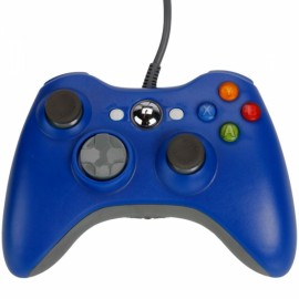 Wired Controller Game for Xbox 360 / PC Blue