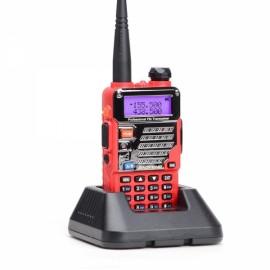 Baofeng UV-5RE Dual Band Two way Handheld Walkie Talkie - US Plug, Red