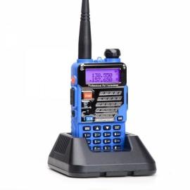 Baofeng UV-5RE Dual Band Two way Handheld Walkie Talkie - US Plug, Blue