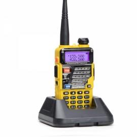 Baofeng UV-5RE Dual Band Two way Handheld Walkie Talkie - US Plug, Yellow