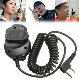 Dual PTT Speaker Mic For Baofeng BF-UV82 L UV8 D UV5R Walkie Talkie