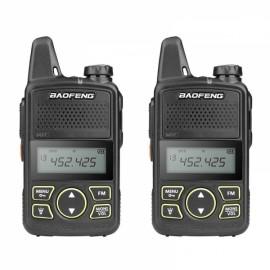 1 Pair BaoFeng BF-T1 20CH Handheld Walkie Talkie w/ Earphones US Plug