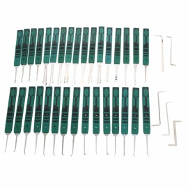 32pcs KLOM AML021019 Stainless Steel Premium Lock Pick Tool Set Green