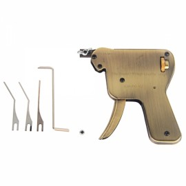 KLOM AML020024 Stainless Steel Manual Pop-down Lock Pick Snap Gun Bronze and Silver