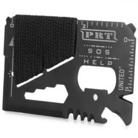 18-in-1 Multifunctional Card Style Ruler Knife Bottle Opener Peeler Household Outdoor Tool